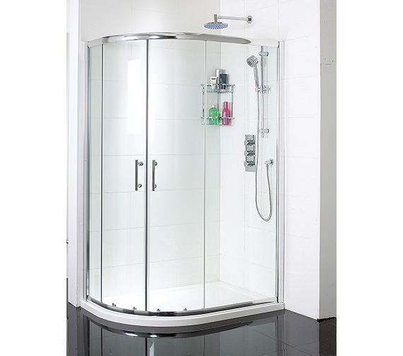 Phoenix Twin Door Offset Quadrant Shower Enclosure 900 x 800mm - SE058