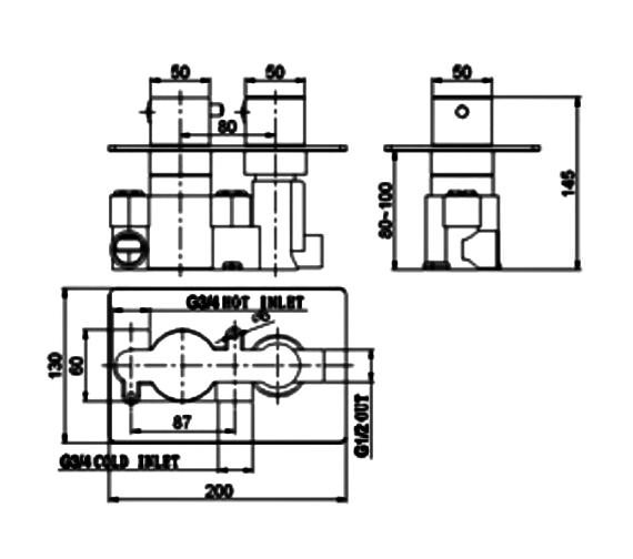 Technical drawing QS-V21472 / SV024RO