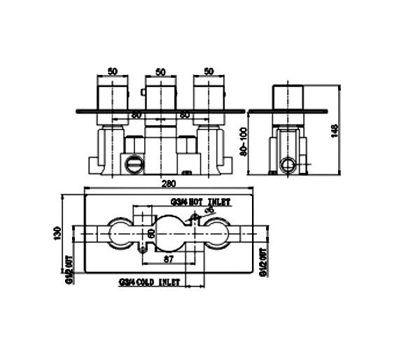 Technical drawing QS-V21473 / SV025RO
