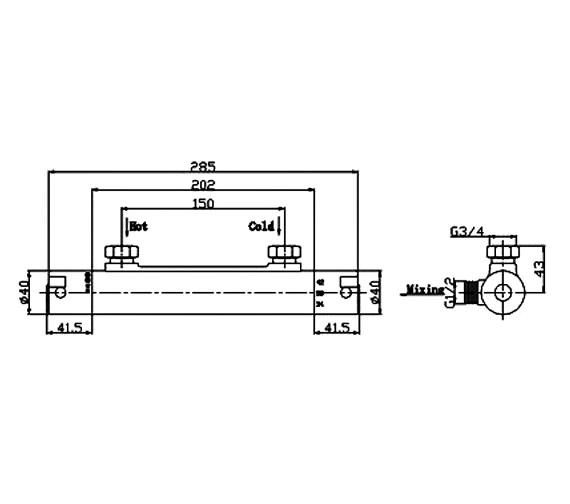 Technical drawing QS-V21481 / SV005
