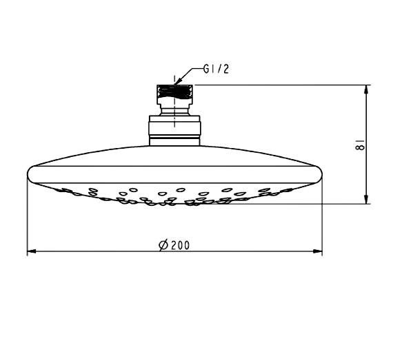 Technical drawing QS-V21500 / SH005