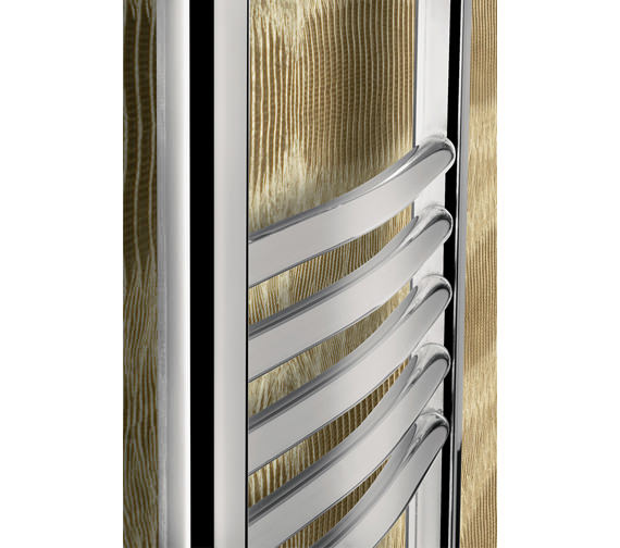 Alternate image of Bauhaus Stream 600 x 1430mm Curved Towel Warmer Chrome - ST60X143C