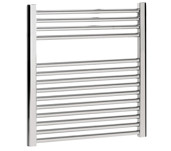 Bauhaus Design Flat Panel Towel Rail 600 x 690mm Chrome - DE60X69C