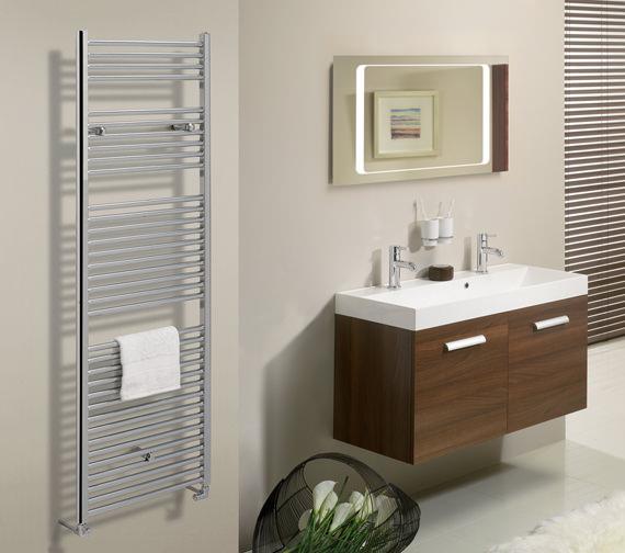 Bauhaus Design Flat Panel Towel Rail Chrome 500 x 1430mm - DE50X143C