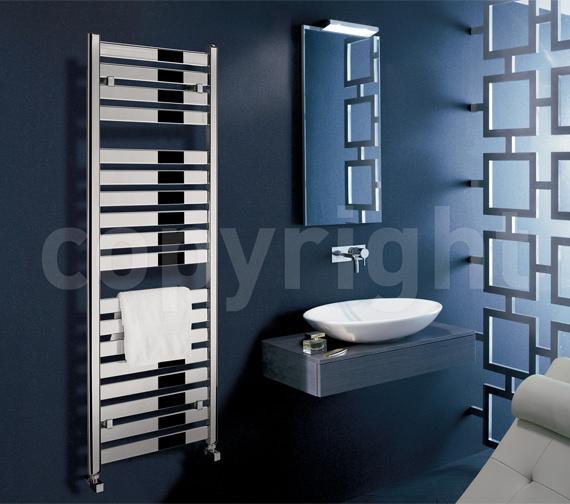 Alternate image of Bauhaus Edge Flat Panel Towel Rail Chrome 500 x 1420mm - ED50X143C