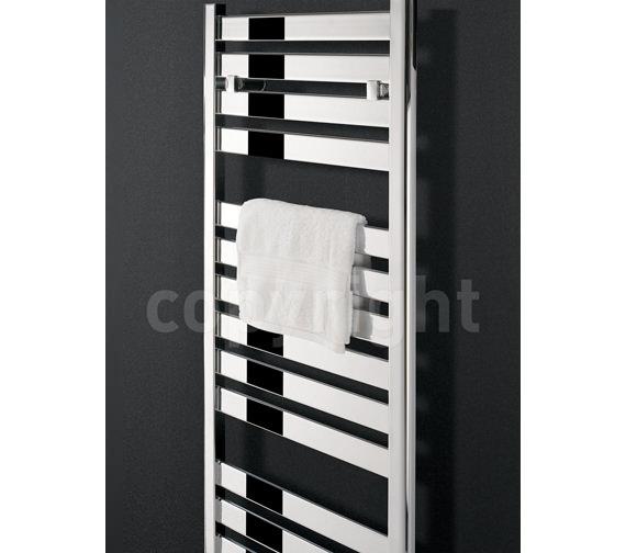 Alternate image of Bauhaus Edge Flat Panel Towel Rail Chrome 500 x 720mm - ED50X72C