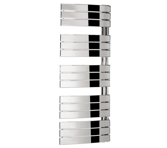 Bauhaus Essence 550 x 1380mm Curved Flat Panel Towel Rail Chrome