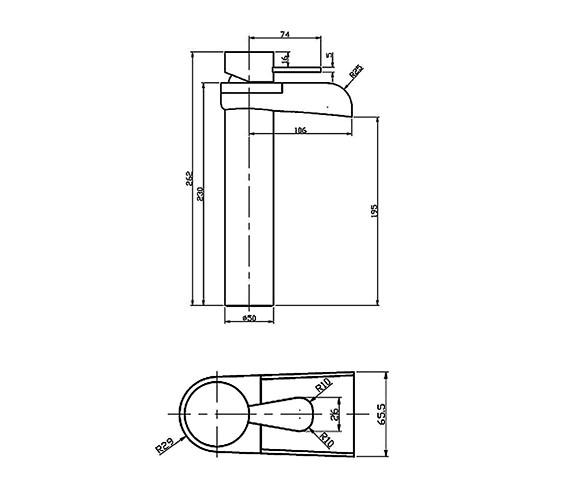 Technical drawing QS-V21734 / LIL029