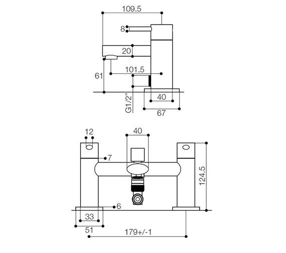 Technical drawing QS-V21744 / IYE007