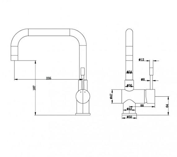 Technical drawing QS-V21752 / KIT157
