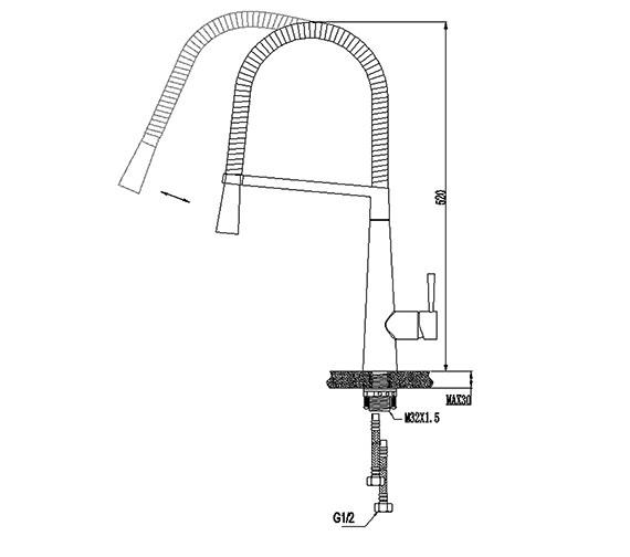 Technical drawing QS-V21756 / KIT169