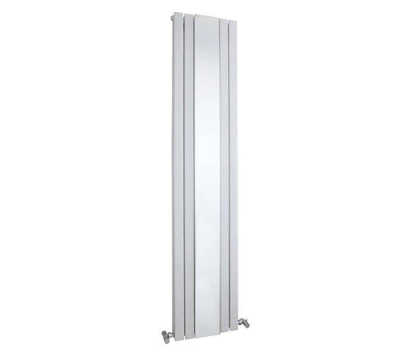 Hudson Reed Sloane 381 x 1800mm Double Panel Vertical Radiator With Mirror
