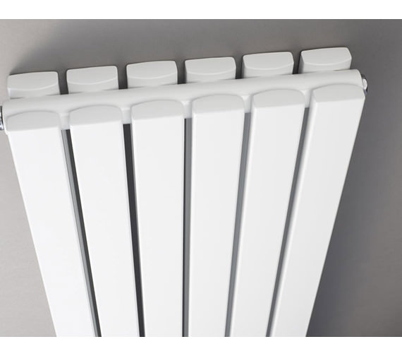 Additional image of Hudson Reed Sloane 381 x 1800mm Double Panel Vertical Radiator With Mirror
