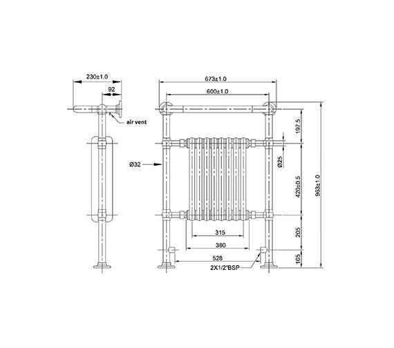 Technical drawing QS-V21886 / HT702