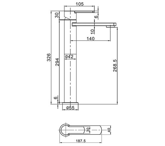 Technical drawing QS-V21899 / WP112DNC
