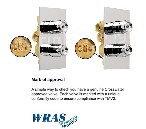 Alternate image of Crosswater Wisp Thermostatic Shower Valve With 2 Way Diverter