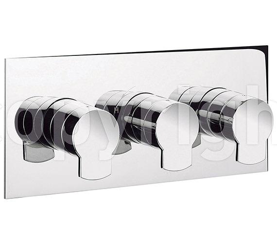 Alternate image of Crosswater Wisp Portrait Thermostatic 3 Control Shower Valve