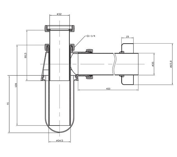 Technical drawing QS-V21936 / BTR0403C
