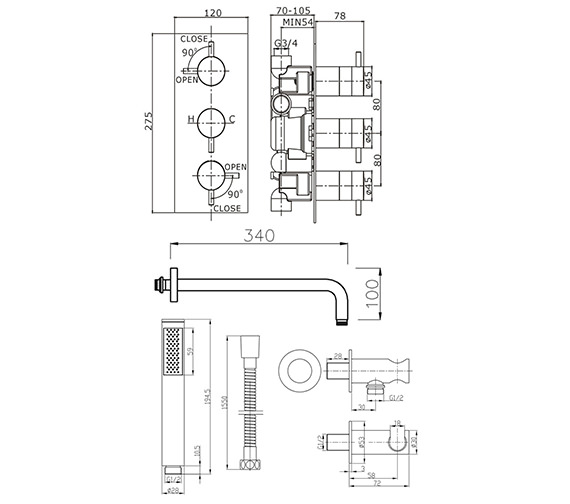 Technical drawing QS-V21989 / KL2000RC