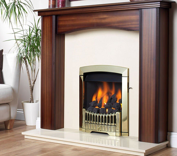 Flavel Rhapsody Slide Control Natural Gas Fire Brass Finish - FDCN45SN