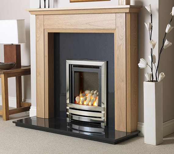 Linear HE Manual Control Full Depth Gas Fire Chrome-Pebble - FHLPX0MN2