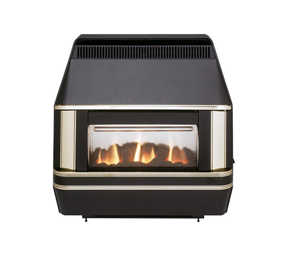 Valor Heartbeat Oxysafe Outset Gas Fire Black-Gold - 0533901