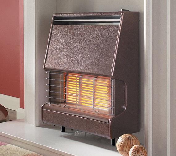Flavel Firenza Radiant Top Control Outset Gas Fire Bronze - FFIRR0MN