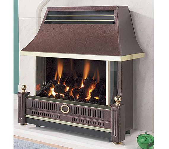 Flavel Renoir Outset Remote Control Gas Fire Bronze - FRECR0RN