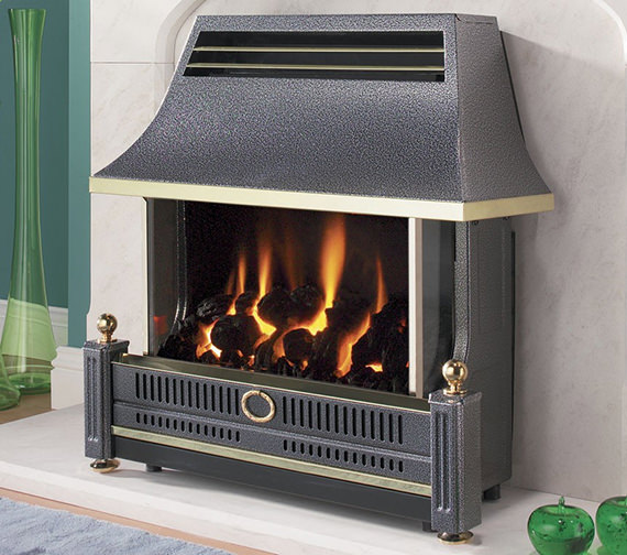 Flavel Renoir Outset Remote Control Gas Fire Black - FRECN0RN
