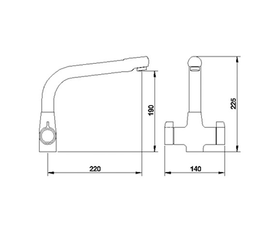 Image 2 of Ultra Cruciform Kitchen Sink Mixer Tap - KA304