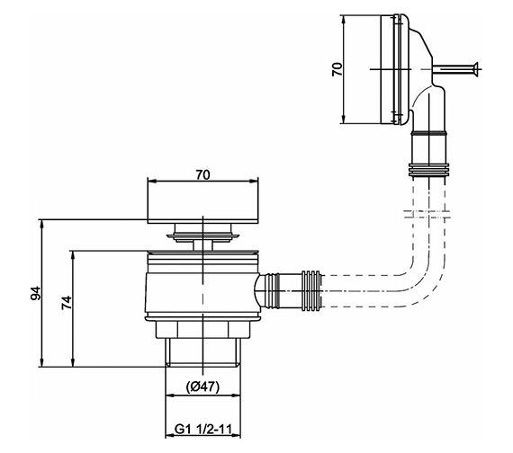 Technical drawing QS-V22169 / EK308