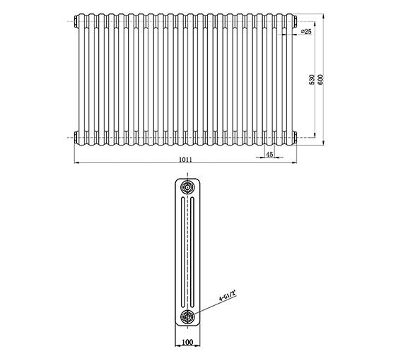 Technical drawing QS-V22200 / HXB06
