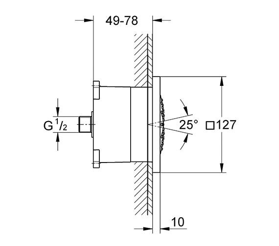 Technical drawing QS-V22225 / 27251000