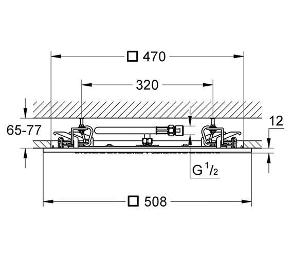 Technical drawing QS-V22232 / 27286000
