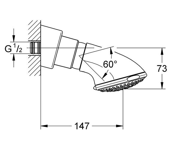 Technical drawing QS-V22253 / 27065000