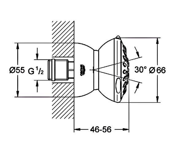 Technical drawing QS-V22255 / 27066000