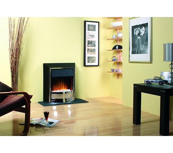 Alternate image of Dimplex Zamora Manual Control Outset Electric Fire Black-Chrome ZAM20