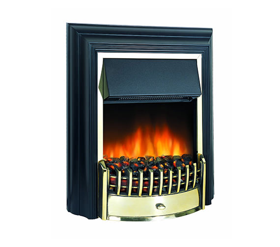 Dimplex Cheriton Remote Control LE Electric Fire Black-Brass | CHT20LE