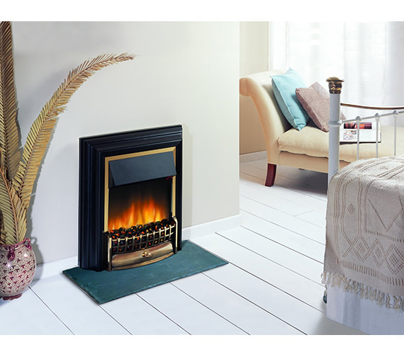 Image 3 of Dimplex Cheriton Remote Control LE Electric Fire Black-Brass | CHT20LE