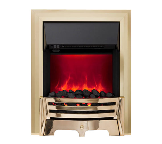 Be Modern Mayfair Manual Control LED Inset Electric Fire Brass - 59331
