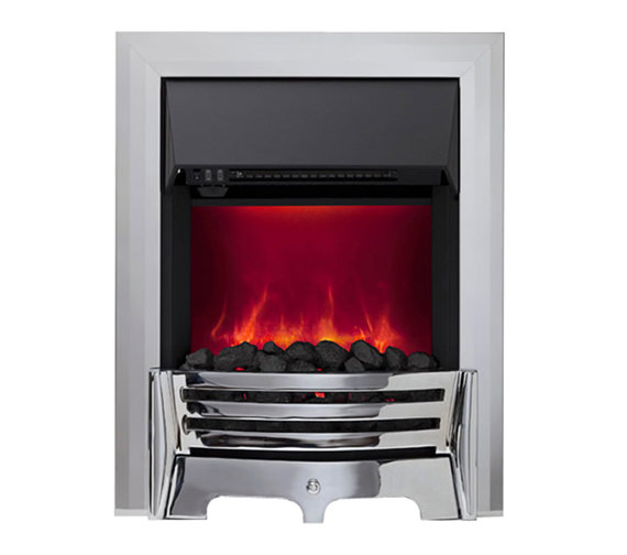 Be Modern Mayfair Manual Control LED Inset Electric Fire Chrome 59358