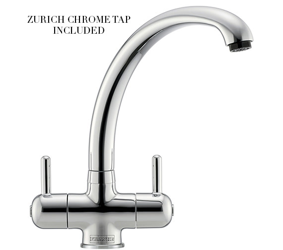 Additional image of Franke Neptune Propack NEX 211 Stainless Steel Kitchen Sink And Tap