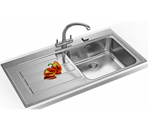Franke 2 Bowl Sink : ... of Franke Epos EOX 611 Stainless Steel 1.0 Bowl Kitchen Inset Sink