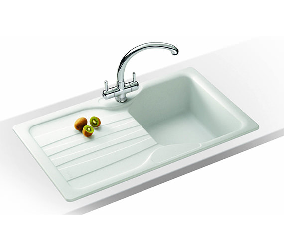 Franke Calypso Sink : Franke Calypso Propack COG 611 Fragranite White Kitchen Sink And Tap ...