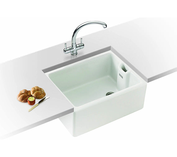 Franke Sinks And Taps : Franke Belfast Propack BAK 710 White Ceramic Kitchen Sink And Tap ...