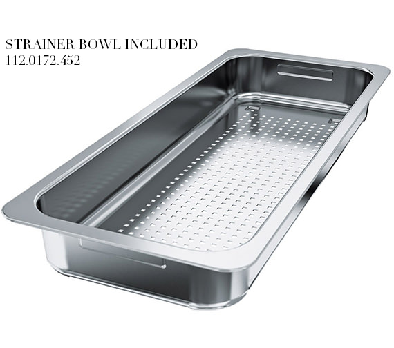 Additional image of Franke Centinox CEX 210 Stainless Steel 1.0 Bowl Inset Sink And Accessories