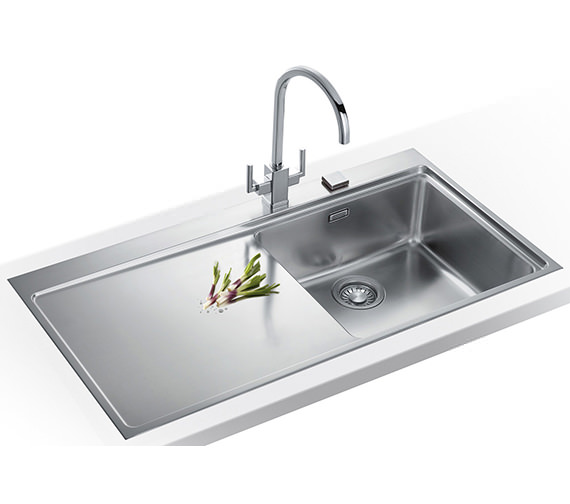 Franke Mythos Slim-Top DP MMX 211 Stainless Steel Kitchen Sink And Tap Image