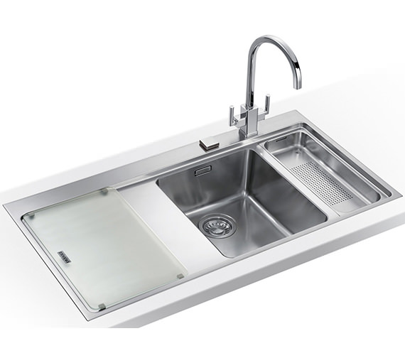 Franke Mythos Slim-Top DP MMX 261 Stainless Steel Kitchen Sink And Tap Image