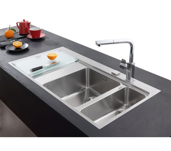 Image 10 of Franke Mythos Slim-Top DP MMX 261 Stainless Steel Kitchen Sink And Tap