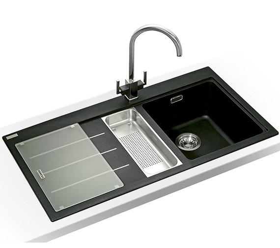 Franke Mythos Fusion Designer Pack MTF 651-100 Fragranite Onyx Sink And Tap Image